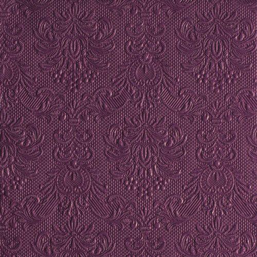 Serviette Elegance aubergine 33x33cm 15 Stück