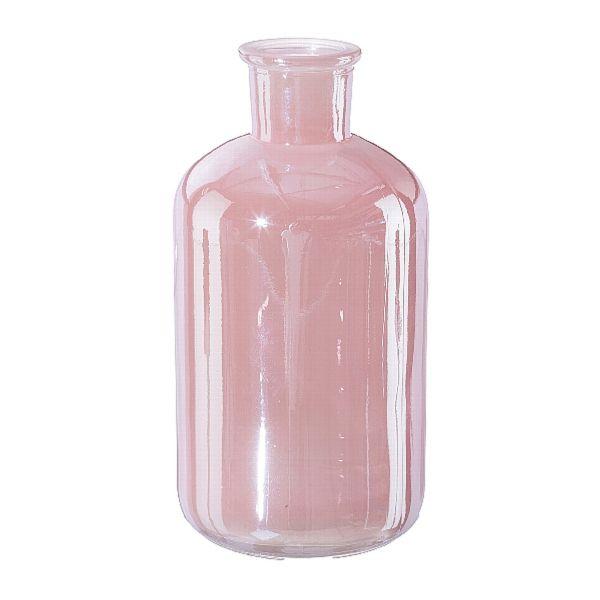 Flaschenvase Luster Glas Rosa 16,5cm bei Tischdeko-Shop.de