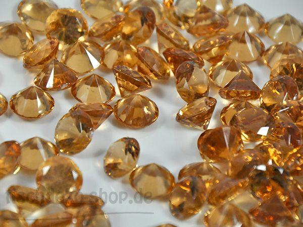 Deko Brillanten Acryl bernstein Ø 19mm ca. 35 Stück