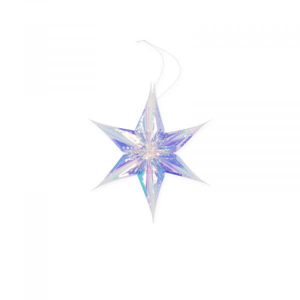 Deko-Stern 3D irisierende Folie 15cm bei Tischdeko-Shop.de