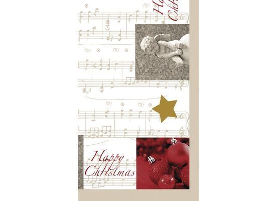 Mitteldecke Angel & Star Weihnachten DUNI 84x84cm Dunicel bei Tischdeko-Shop.de