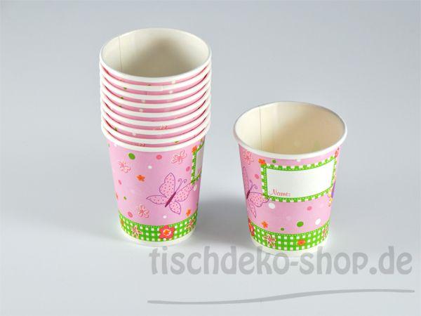DUNI Papp-Becher Pink Fairy 0,2 l 10er Pack