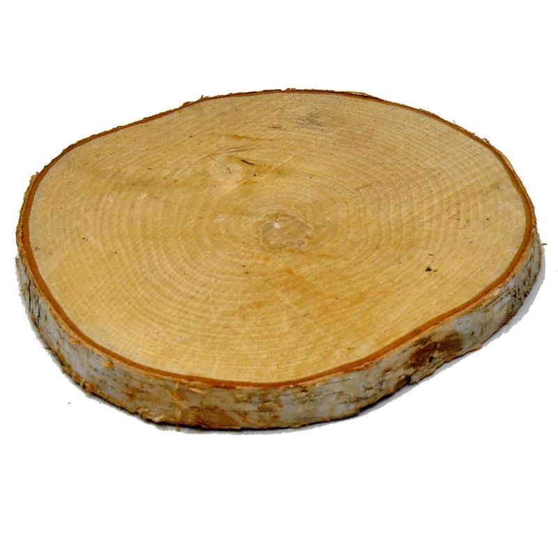 Birkenscheibe rund durchmesser 28 29cm for Holzscheibe rund