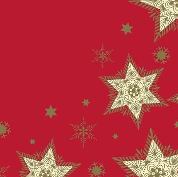 Duni serviette glittering stars red 33x33cm 50er pack weihnachtsservietten 33x33 cm - Duni weihnachtsservietten ...