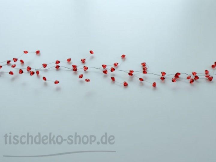 Herzen girlande rot 120cm bei tischdeko for Tischdeko shop