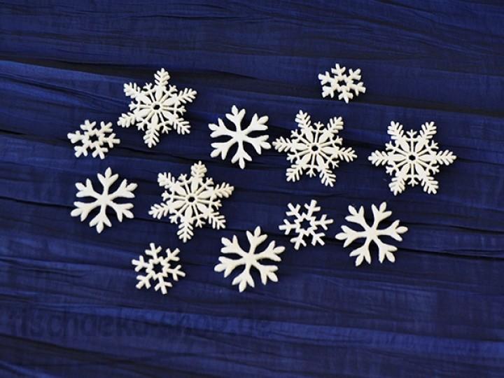 streudeko winter weihnachten ice crystals filz wei 12 st. Black Bedroom Furniture Sets. Home Design Ideas