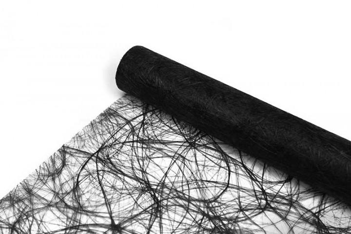 Sizoweb Tischband Schwarz, 8cm, 20cm oder 30cm Breite, auf 2
