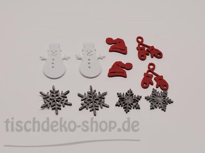 Streudeko winter rot grau wei sortiert tischdeko nach for Tischdeko shop