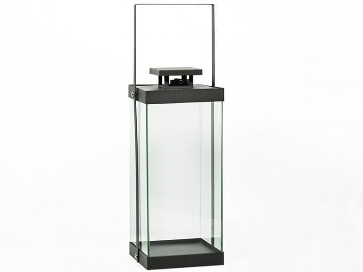 Moderne Deko Laterne Glas Rahmenlos Metall Taupe Matt