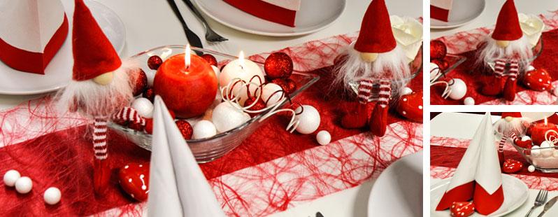 Tischdekoration In Rot Und Weiss Das Farbkonzept Mit Ist Pictures to ...