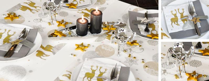 Tischdekoration zu weihnachten und advent silber trifft for Tischdeko shop