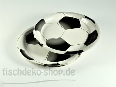 DUNI Papp-Teller Fußball Football Star 22cm 10er Pack