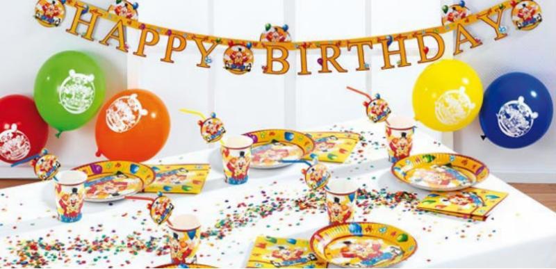"""Tischdekoration """"Happy Birthday Clown"""" zum Kindergeburtstag"""