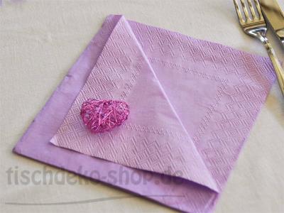 Serviette DOUBLO light lilac 33x33cm 20er Pack