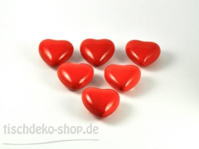 Herz rot Ø6cm 6er Set Keramik
