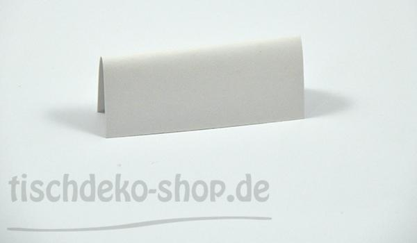 Namenskaertchen Karton 7,5x3,4 cm Weiss 10er Pack