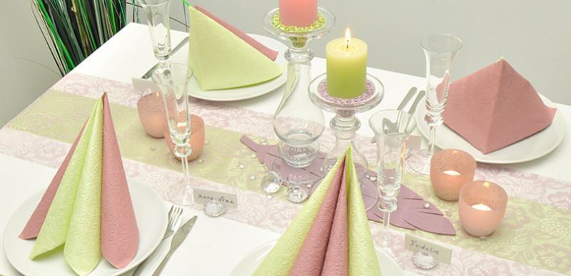 Vintage-Tischdeko Romanze Pastell