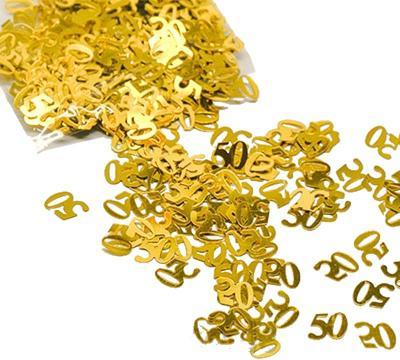 zahlen konfetti 50 gold