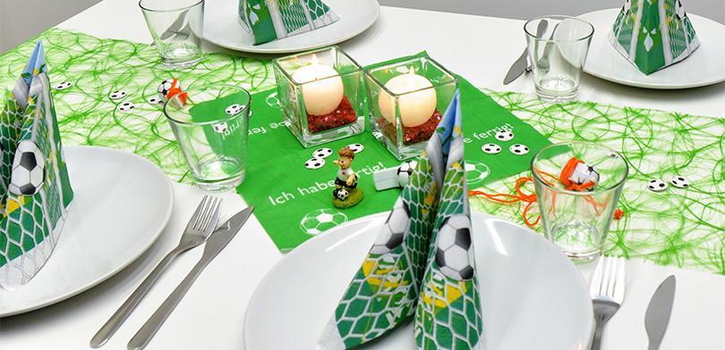 Fussball Deko Fur Den Tisch Tischdeko Magazin