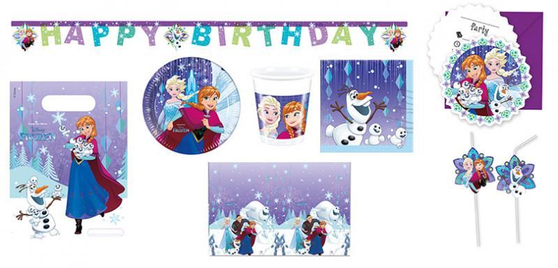Kinderparty-Set Frozen 56-teilig für 6-8 Kids