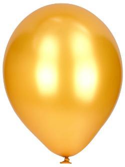 Luft-Ballons Gold Metallic 50 Stück