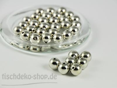 Perlen Ø 10mm Metallic silber 115 Stück