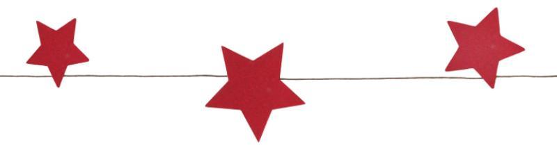 Sternen-Girlande Rot Papier 7x120 cm