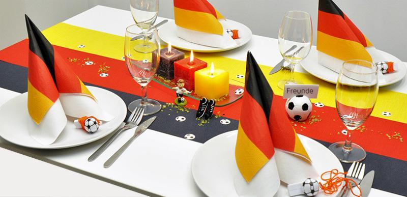 Tischdekoration Fussball Deutschland