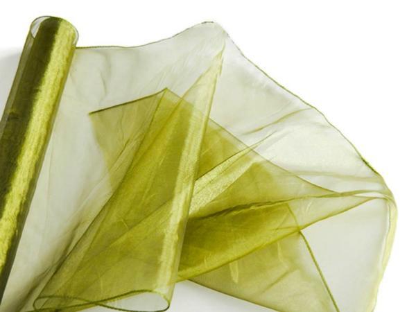 organza-tischlaeufer-oliv-gruen-40cm-x-10m