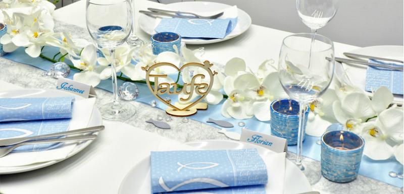 tischdekoration-taufe-blau-silber