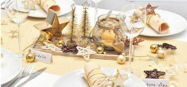 Tischdekoration Walk of Fame Cream zu Weihnachten