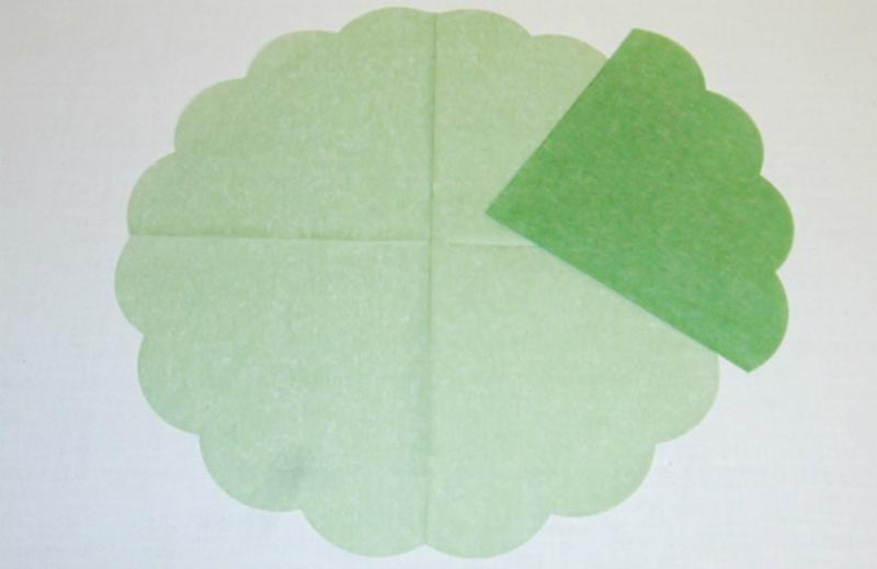 Japan-Serviette Jade-Grün Ø 34 cm 15er Pack