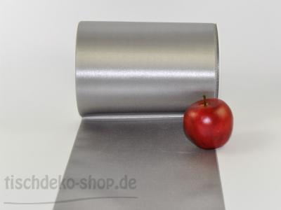 Satinband Tischband Silbergrau 15cm
