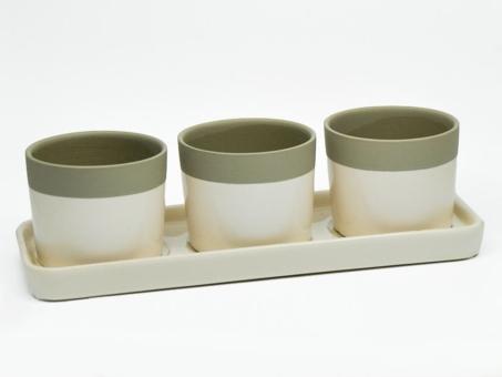3-uebertoepfe-auf-tablett-creme-taupe-keramik-37x13x10cm