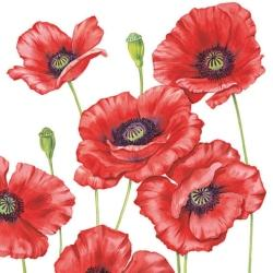 serviette-romantic-poppy-33x33-cm