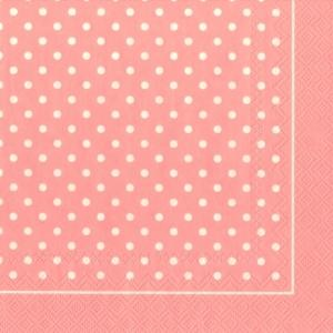 serviette-polka-dots-light-rose-33x33cm-20er-pack