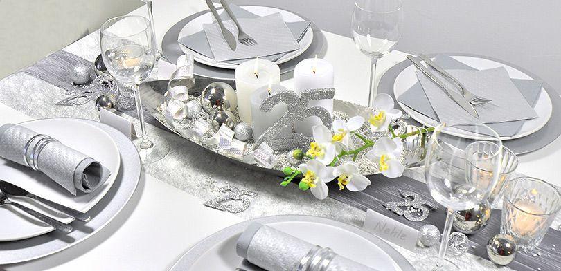 Tischdeko zur Silberhochzeit Hochzeitsarten