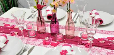 Tischdekoration Pink Fuchsia
