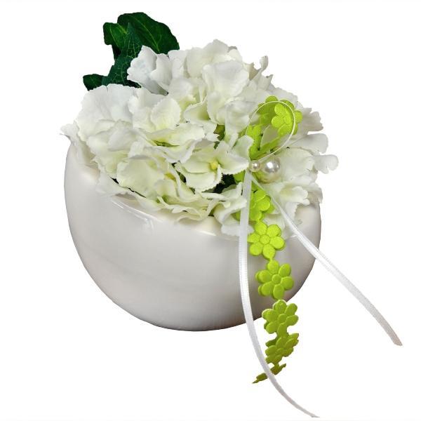 ovale-porzellanschale-mit-hortensienbluete-weiss-in-geschenkfolie-geschenke-versenden-lassen