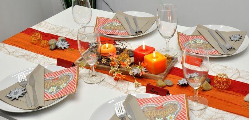 Tischdekoration-Heimat