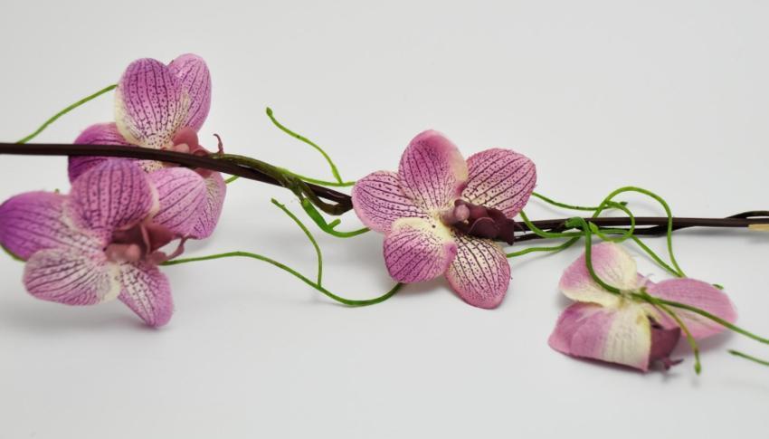 Orchideen-Girlande Pink 155cm