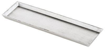 Tablett Silber/Schwarz 44x13x2cm Kunststoff