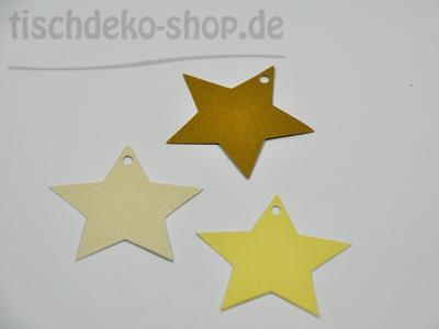 Sterne als Streudeko/Namenskärtchen/Anhänger 36 Stk.