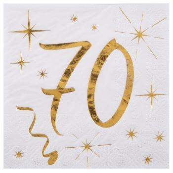 serviette-mit-zahl-70-golddruck-24x24cm-20er-pack