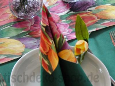 """Serviette """"Tulips Time"""" 24x24cm 20er Pack - Servietten falten und anrichten"""