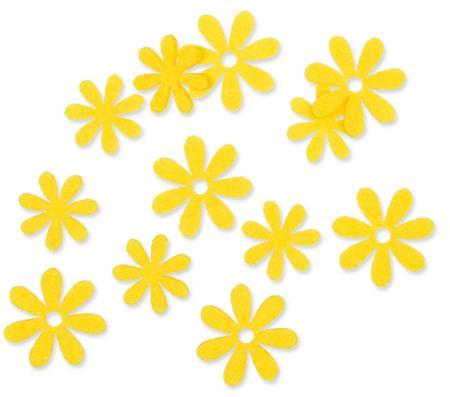 Filzsortiment Blüten Gelb / Lemon