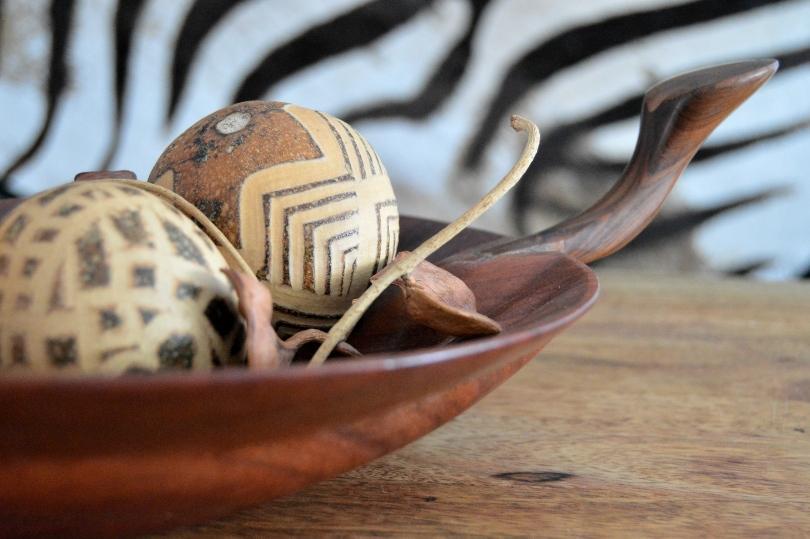 Afrikanische Holzdeko - Urlaubsfeeling