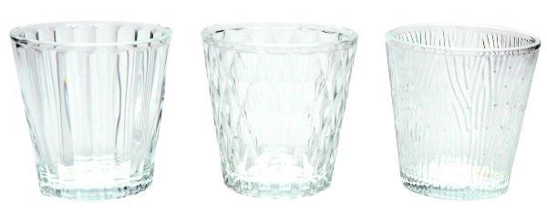Teelichthalter Lumiere 3er Set H7,5 D 7,5cm