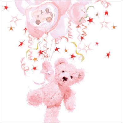 Serviette Teddy Rose 33x33cm 20er Pack