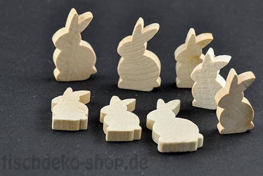 Streudeko Hase Holz 8 Stück